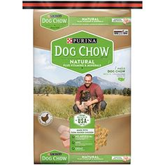 Purina Dog Chow Natural Plus Vitamins & Minerals Dog Food, 16.5 lb. Bag - Scoop a bowl of Purina Dog Chow Natural Plus Vitamins & Minerals adult dry dog food, and feed your dog with confidence knowing that he's getting an affordable natural recipe that provides the 100% complete and balanced nutrition he needs to help him live a long and healthy life. Made with real fa...