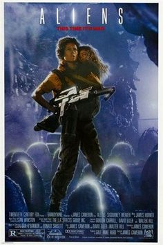 SIGOURNEY WEAVER classic movie poster ALIENS sci-fi thriller SPACE 24X36 hot