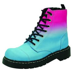With bright and bold colours T. take a new stance in the way that combat boots should be seen and worn. Goth Platform Boots, Platform Sneakers, Nightmare Before Christmas Hoodie, Adidas Shoes Nmd, Girl Shadow, Punk Boots, Fancy Shoes, Partner, Girls Shoes