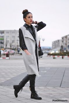 Новое от Grama Ioana School Outfits, Fashion Looks, Normcore, Street Style, My Style, Coat, Jackets, Fashion Trends, Down Jackets