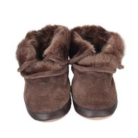 Cozy Ankle Baby Boots, Brown
