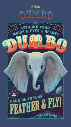 Celebrate the arrival of Disney's Dumbo with these adorable vintage-style mobile wallpapers. Wallpaper Iphone Love, Best Iphone Wallpapers, Trendy Wallpaper, Disney Wallpaper, Mobile Wallpaper, Disney Movie Posters, Disney Films, Disney Art, Disney Pixar