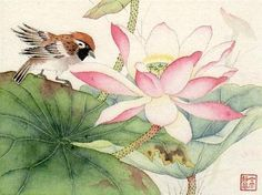 """On the Ancient Pond"" - Original Fine Art for Sale - © Jinghua Gao Dalia"
