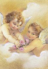 Angels Paintings - Angels in the sky by Patrick Hoenderkamp