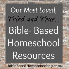 Our Favorite Bible-Based Resources for Homeschool.  Lots of books to check into for the future.