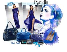 """All blue day!"" by eranzi on Polyvore"