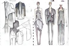 Fashion Sketchbook - fashion design drawings, fashion portfolio // Valentina Shikhereva