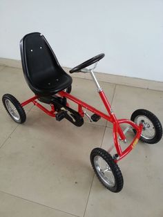 See the source image 4 Wheel Bicycle, Bicycle Pedals, Go Karts For Kids, Bike Cart, Car Shelter, Bike Hanger, Toy Cars For Kids, Power Bike, Motorcycle Trailer