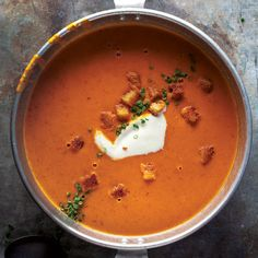 Cream of Tomato Soup. This will be my go-to cream of tomato soup from now on. A bit more work than others I've made, but so worth it and tasty!