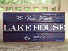 Lake House sign beach house cottage sign by sunshinegirldesigns, $135.00