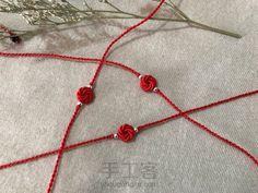 手工作品_手工作品图片_手工作品大全_手工客 Macrame Knots, Macrame Bracelets, Rakhi Bracelet, Rakhi Making, Handmade Rakhi, Rakhi Design, Kurta Neck Design, Art N Craft, Macrame Tutorial