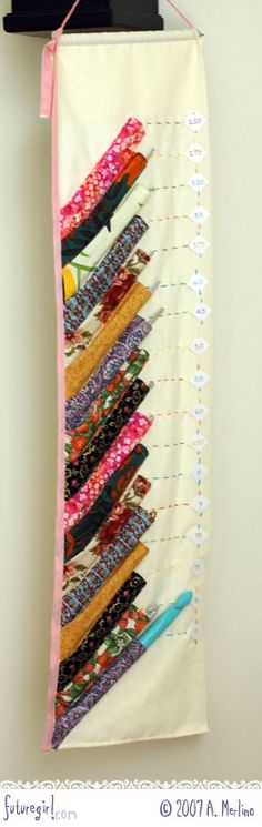 Crochet hook organizer. I want one!