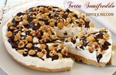 Torta semifreddo panna e nocciole A very easy and without cooking for a semifreddo cream and hazelnut cake that Italian Desserts, No Cook Desserts, Italian Recipes, Dessert Recipes, Gelato Cake, Gelato Recipe, German Torte Recipe, Strawberry Torte Recipe, Hazelnut Cake