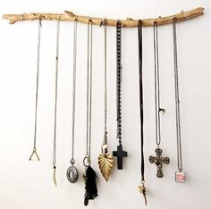 tree branch for hanging accessories