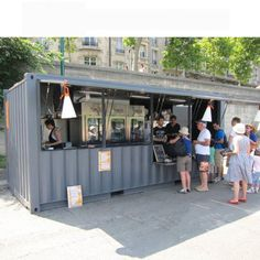 Coffee shop container bar 20ft prefabricated shipping container shop