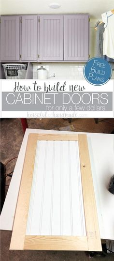 Build cabinet doors to update your old cabinets on the cheap! Using a few simple woodworking techniques, you can update your old cabinet doors without spending a fortune. These DIY shaker cabinet doors are easy to build and look amazing. New Cabinet Doors, Shaker Style Cabinet Doors, Cabinet Styles, Cabinet Ideas, Building Cabinet Doors, Cabinet Design, Painting Cabinet Doors, Cabinet Door Designs, Shaker Doors