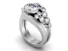 Custom Round Diamond Ring Round Brilliant Cut Diamond Engagement Ring Wholesale Diamonds in Dallas Custom Designer Rings Dallas Texas