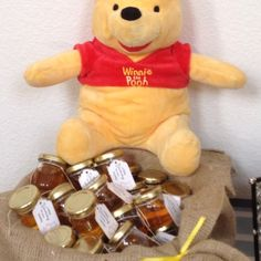 Pooh Bear Pots of Honey for Party Favor