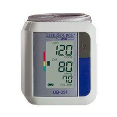 LifeSource UB351 Automatic Wrist Blood Pressure Monitor