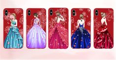 SHUOHU Luxury Dress Phone Bag Case for IPhone 7 X 8 Plus Back Cover Ultra Thin Original Matte Silicon for IPhone 6 6S Plus Case