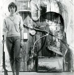Niki de Saint Phalle at work.