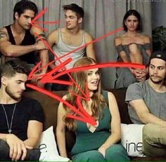 "Malia is like ""wtf who are you"" Dylan is like ""look at her again and i swear you're dead"" Liam is like ""yep he's Hot"" Scoot is like ""i wish i have those boobs"" and theo is like ""n i c e"" Stiles Teen Wolf, Teen Wolf Boys, Teen Wolf Dylan, Teen Tv, Teen Wolf Cast, Teen Wolf Memes, Teen Wolf Quotes, Teen Wolf Funny, Dylan O'brien"