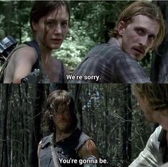 Sherry, Dwight and Daryl. The Walking Dead Season 6 Episode 6