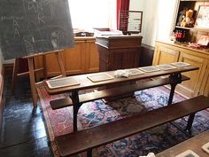 The Schoolroom - Lanhydrock House - Bodmin - Cornwall - England Dissolution Of The Monasteries, Seaside Village, Cornwall England, Cottage Homes, Hotel Deals, Entryway Tables, Home Goods, New Homes, Home And Garden