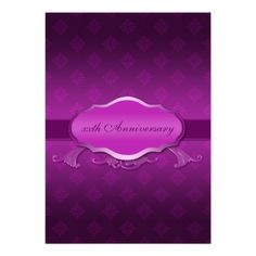 See MoreWedding Anniversary Invitation Purple Damasktoday price drop and special promotion. Get The best buy