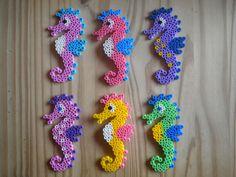 Seahorses hama perler by Creablog Valerie