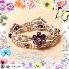 Fabulous Wrapit Loom Bracelet by @kyoko_miha  #wrapitloom #wrapitloombracelet