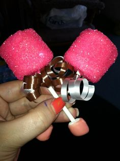 Sugar Coated, Chocolate Covered Marshmallow Baby Rattle Pops. $22.00 per dozen, via Etsy. Makes a great addition to any baby shower!