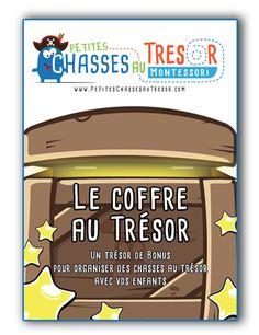 Chasse au Trésor pour enfant à imprimer. Chasse au trésor, jeu de piste, enquête basées sur la méthode Montessori pour faire découvrir le monde aux enfants.