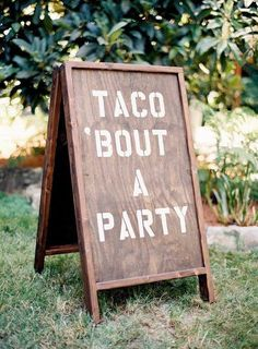 Searches for taco weddings on Pinterest is up +132% YoY. Who's ready to eat like there's no mañana? Taco bars let guests build their own tacos while you mix and mingle. | Outdoor Weddings