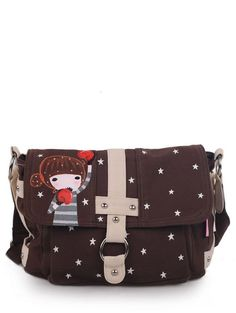 Cute lovely colored drawing boxing doll shoulder bags M-F-Z009