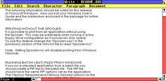 Text editor in Windows 1.01 (Write)