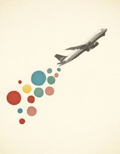 Retro Wall Art, Pop Art Poster, Collage Art Print, Giclee Print - Leaving on a Jet Plane on Etsy, $30.05 CAD