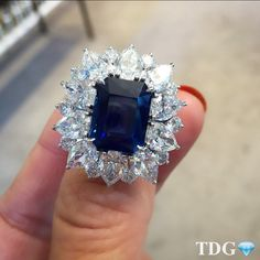 """I COULD HAVE STARED INTO THE INKY DEPTHS OF THIS @BOUCHERON SAPPHIRE FOREVER!!!! A classic, incredible sapphire and diamond ring, generously shown to me…"""