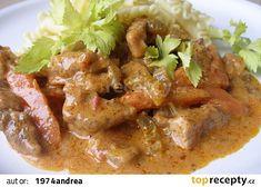 No Salt Recipes, Meat Recipes, Pecan Pralines, Russian Recipes, Food 52, Thai Red Curry, Stew, Good Food, Pork