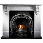 Natural Marble Surround with Cast Iron Insert newcastle fireplace centre, log burner, wood burner, stoves, solid fuel Marble Fireplace Surround, Fireplace Mantel Surrounds, Cast Iron Fireplace, Fireplace Inserts, Fireplaces Uk, Marble Fireplaces, Electric Fireplaces, Kingston, Contemporary Gas Fireplace