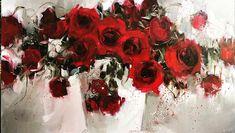Зображення може містити: квітка та рослина Flower Images, Flower Art, Impressionist Art, Impressionism, Still Life Art, Large Flowers, Watercolor Flowers, Collage Art, Red Roses