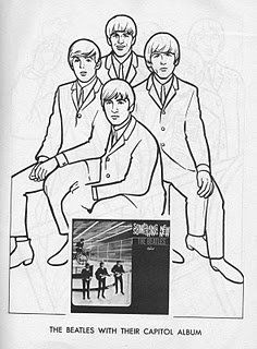 the beatles coloring page 01 - Beatles Coloring Book