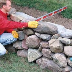 how to build retaining walls -step by step instructions