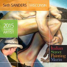 See Seth Sanders skills showcased at Italian Street Painting Marin's Carnevale di Venezia June 27 & 28!  5th & A in downtown San Rafael, California!  #MarinCounty #Madonnaro #ChalkFestival #FineArt #Streetpainting