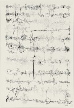León Ferrari, Untitled, 6 May 1962. Ink on paper. 46.4cm H x 31.1cm W. (Museum of Modern Art, New York)