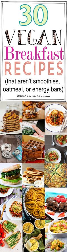 30 Vegan Breakfast Recipes (that aren't smoothies, oatmeal, or energy bars)…