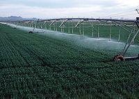 ユマ郡の小麦農園における回転散水-コロラド州 - Wikipedia