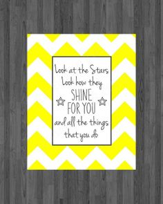 Nursery wall art Look at the stars look how they by ThePaperLace, $5.00