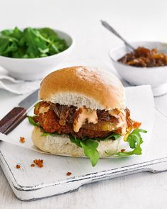 Sweet and spicy flavours are the real highlight of this easy chicken burger recipe.