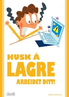 Save Your Work Poster: It's hard to believe that we still have to save some things, but we totally do! Prevent tears over lost work! Put this one on the computer lab wall for technology class. Computer Lab Rules, Computer Lab Decor, Elementary Computer Lab, Computer Class, Computer Science, Computer Rooms, Computer Lessons, Teaching Computers, School Computers